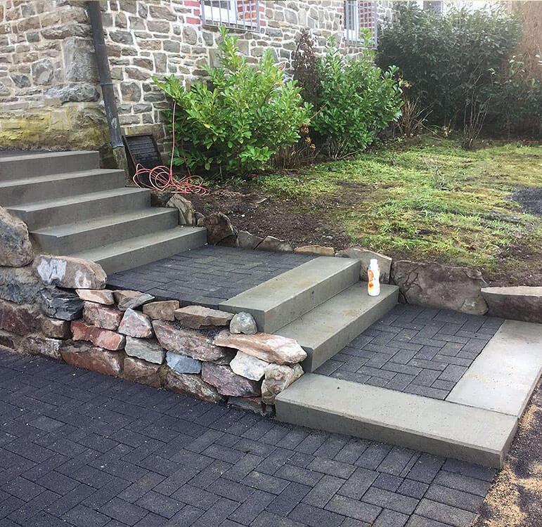 Gartengestaltung Treppenanlagein Lüdenscheid